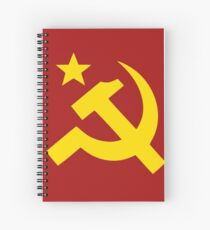 Communism Hammer Sickle Flag Spiral Notebook