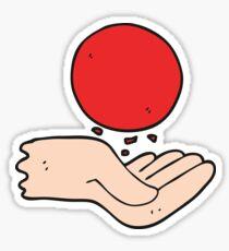 cartoon hand throwing ball Sticker