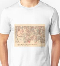 Booth's Map of London Poverty for Brockley Ward, Greenwich Unisex T-Shirt