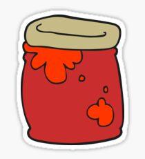 cartoon jar of jam Sticker