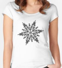 Christmas 2016 - Snowflake Design - Black and White Women's Fitted Scoop T-Shirt