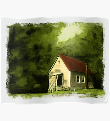 """""""Country Church 2""""... prints and products Poster"""
