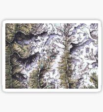 Saribung, Nepal - Watercolor and Ink artwork Sticker