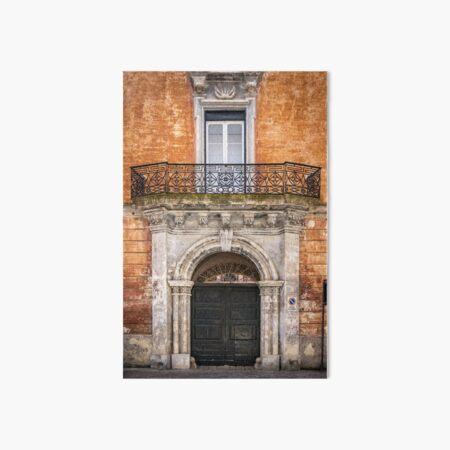 Decorative door in Nardo, Italy Art Board Print