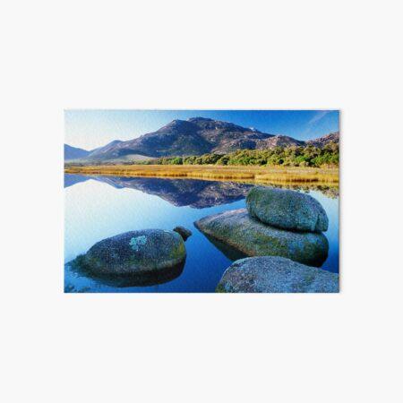 Tidal River Reflection Art Board Print