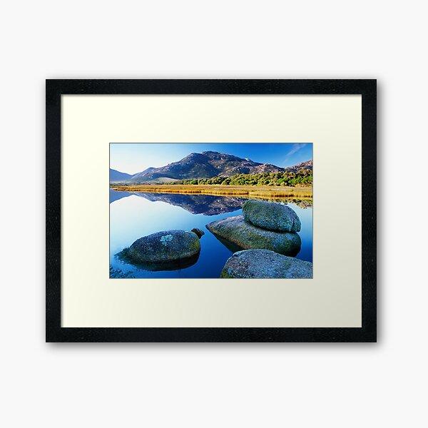 Tidal River Reflection Framed Art Print