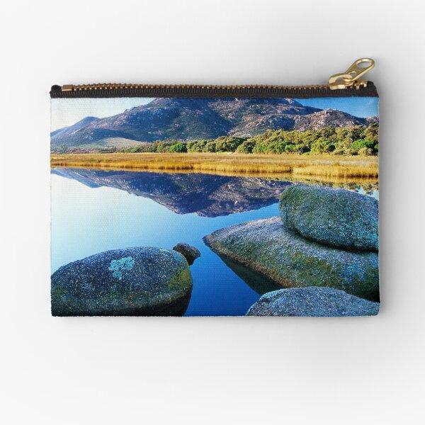 Tidal River Reflection Zipper Pouch