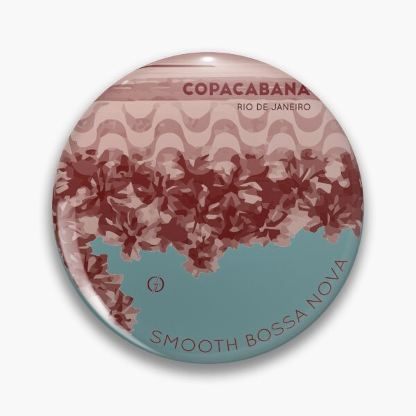 Vintage Smooth Bossa Nova Copacabana Rio de Janeiro Pin