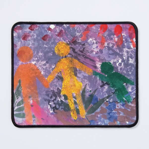 Family Sunset Universal Icons Mouse Pad