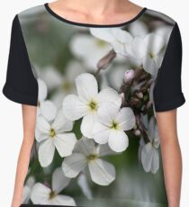White Wildflowers Women's Chiffon Top