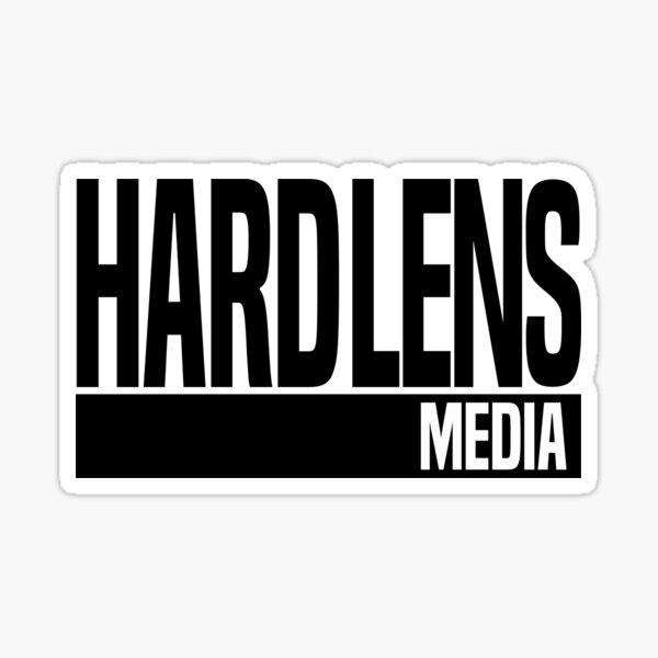 Hard Lens Media Logo Sticker