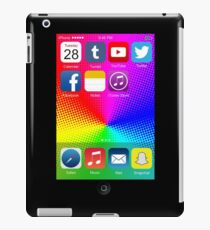 The All New iPhone - with colored background iPad Case/Skin