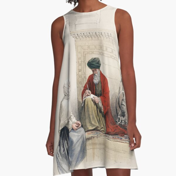 The Letter Writer in Cairo A-Line Dress