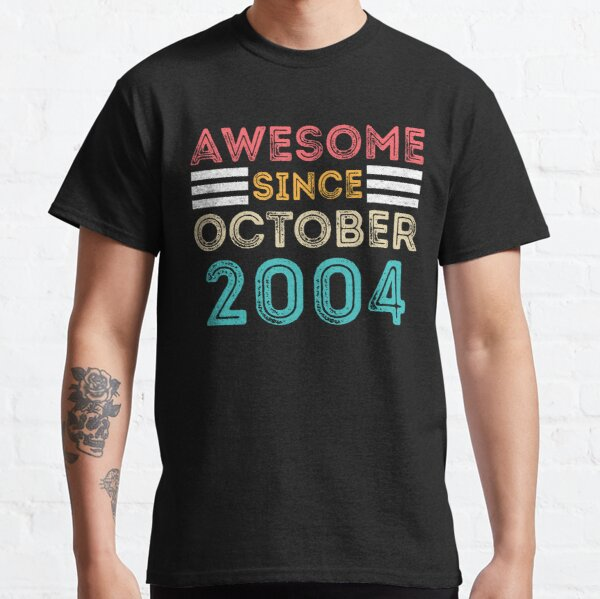 Retro Vintage 16th Birthday - Awesome Since October 2004 Classic T-Shirt