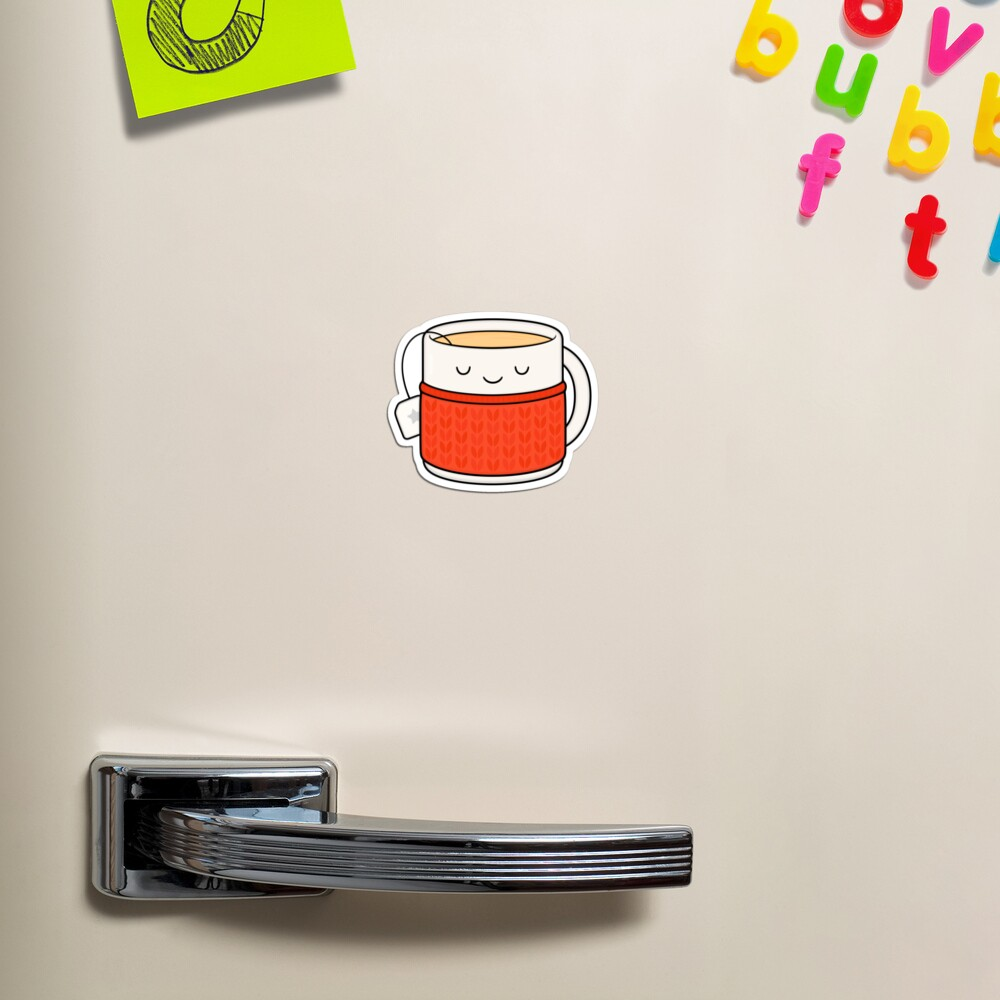 Keep warm, drink tea! Magnet