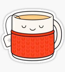 Keep warm, drink tea! Sticker