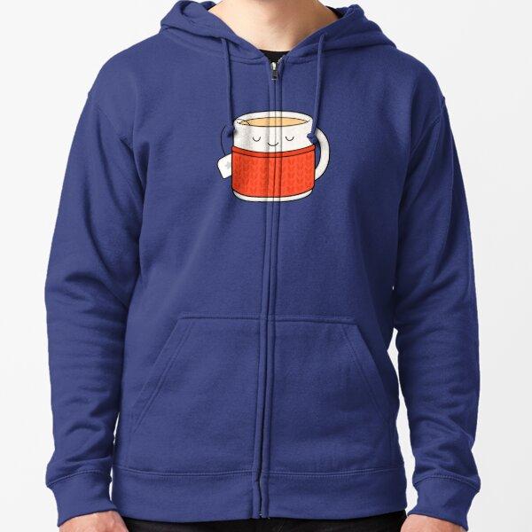 Keep warm, drink tea! Zipped Hoodie