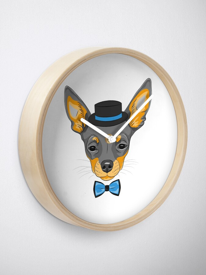 Alternate view of Hipster cute dog Chihuahua Clock