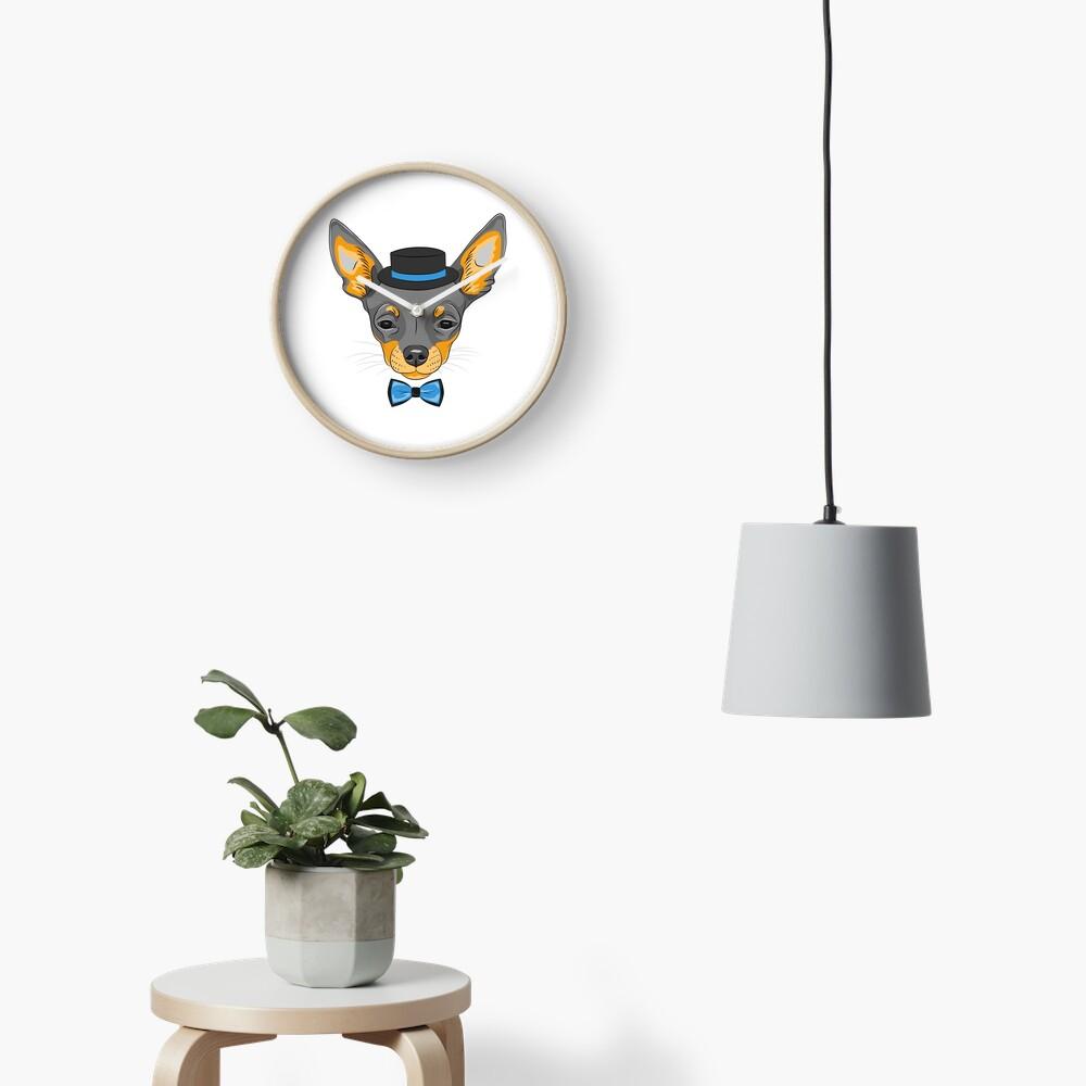 Hipster cute dog Chihuahua Clock