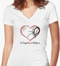 Team Black Widow - Lactrodectus in love  Women's Fitted V-Neck T-Shirt