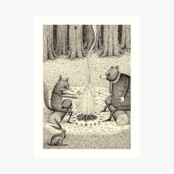 Camp Fire Art Print