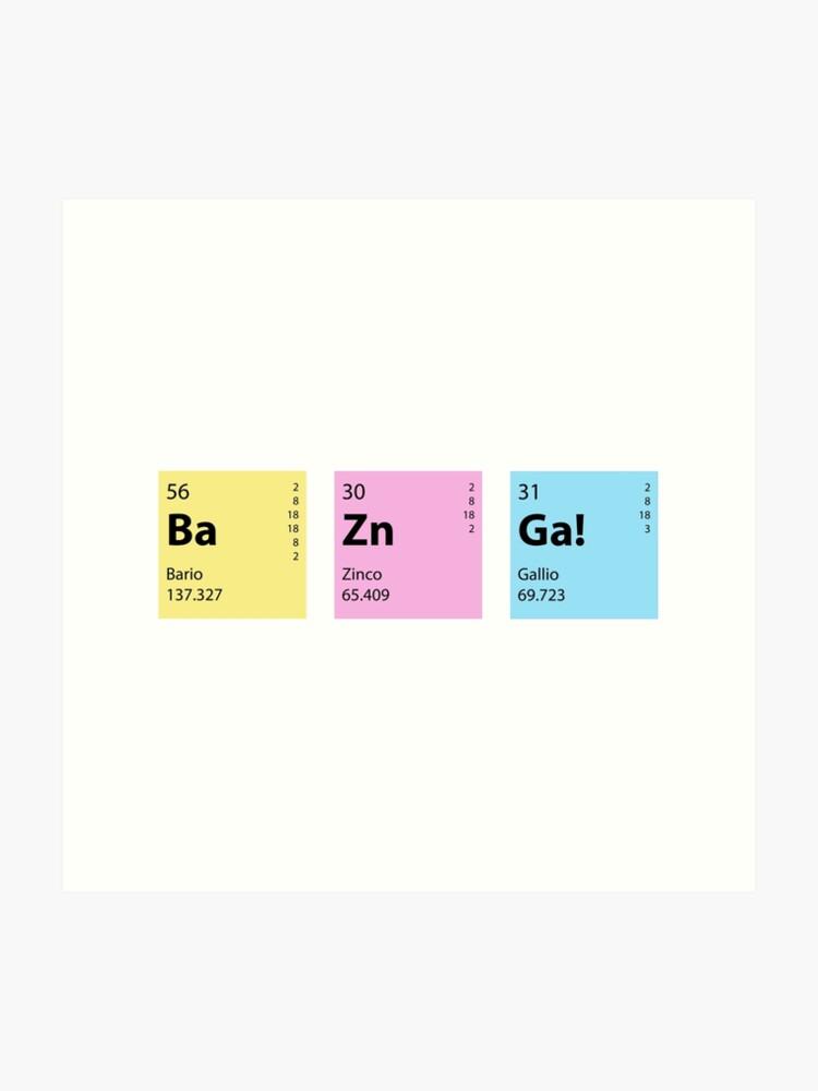 BaZINGa Big Bang Theory Vinyl Decal 12 Colours 2 Sizes Sheldon Science Sticker