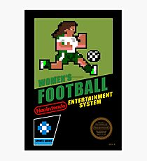 8-bit Women's Football Videogame Photographic Print