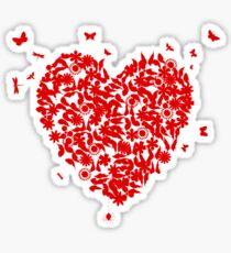 Wedding heart Sticker