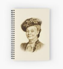 Downton Abbey, Maggie Smith Pencil Portrait, Sepia, Dowager Countess Spiral Notebook