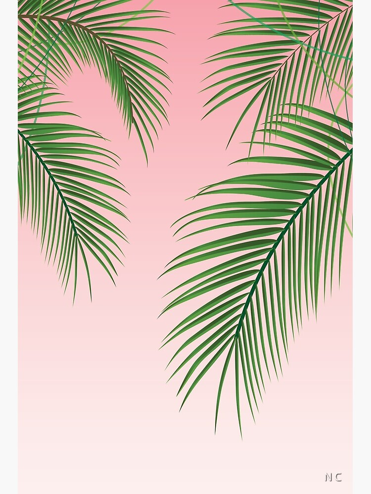 Palm Tree Leaves Art Board Print By Crnicole Redbubble