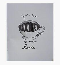 Mocha to my Latte Photographic Print