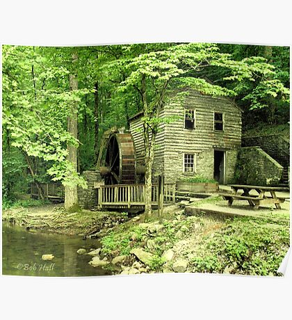 """""""Rice Grist Mill""""... prints and products Poster"""