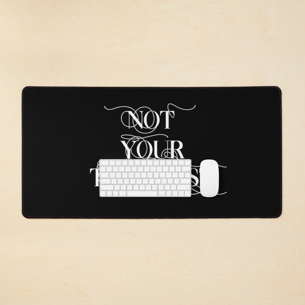 """""""Not your therapist"""" emotional labour dating plea Mouse Pad"""