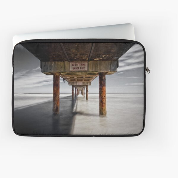 No Loitering Under  Pier Laptop Sleeve