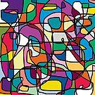Abstrakte Farben Gekritzel von JCDesignsUK
