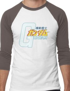 Gundam Title Logo Men's Baseball ¾ T-Shirt