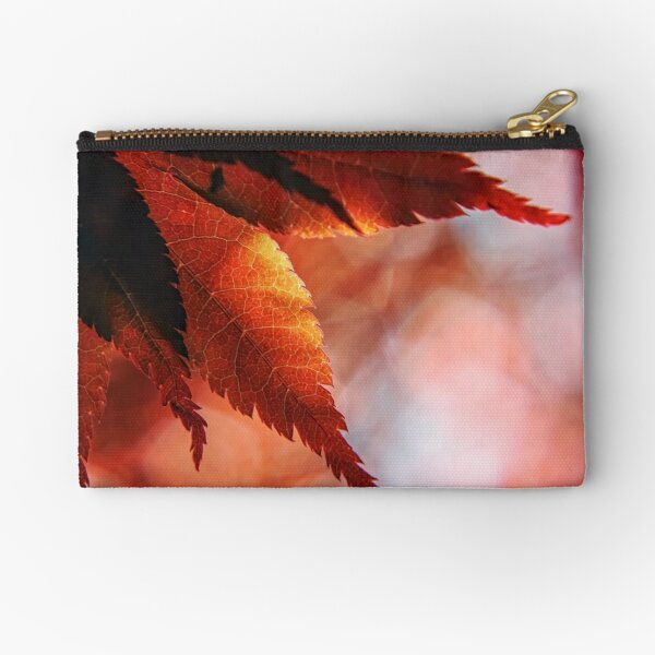 Japanese Maple Leaves Zipper Pouch