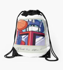 Optimus: Ball is Life Drawstring Bag