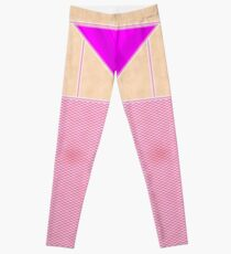 Fishnets Stockings Hot Pink with Knickers Leggings
