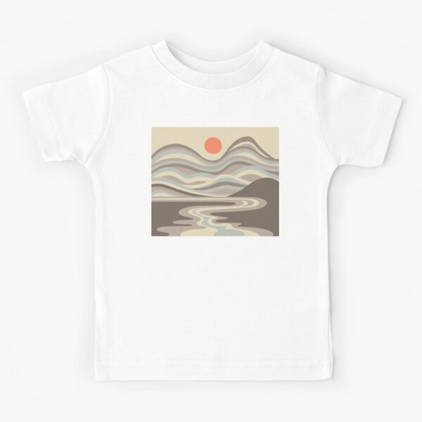 DESERT BLOOD MOON LANDSCAPE in EARTH TONES - UnBlink Studio by Jackie Tahara Kids T-Shirt