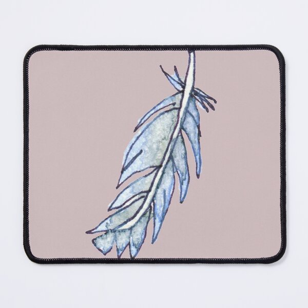 Periwinkle Feather Mouse Pad