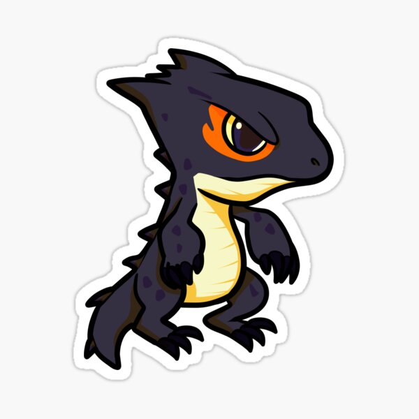 Red eyed crocodile skink Sticker
