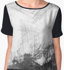 Scratchy Charcoal Chiffon Top