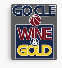 GO CLE Wine & Gold Canvas Print