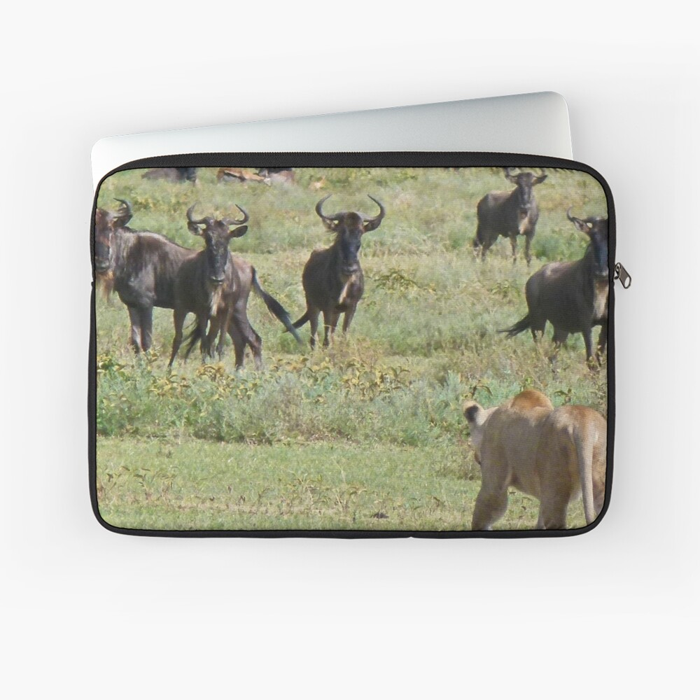 Wildebeast for lunch Laptop Sleeve