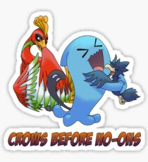 Crows Before Ho-Ohs Sticker