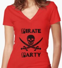 Pirate Party  Women's Fitted V-Neck T-Shirt