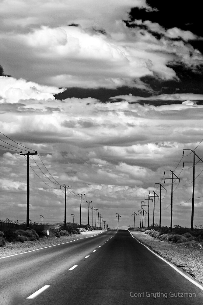 Power Lines to the End of the Road by Corri Gryting Gutzman