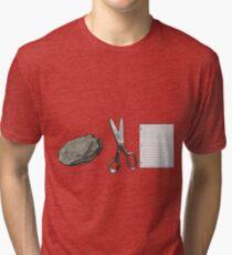 Rock Scissors Paper Tri-blend T-Shirt