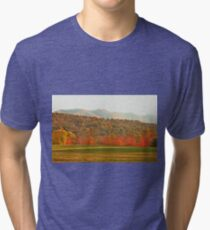 """""""View of the Smokies  from Mountain Home, Tennessee""""... prints and products Tri-blend T-Shirt"""